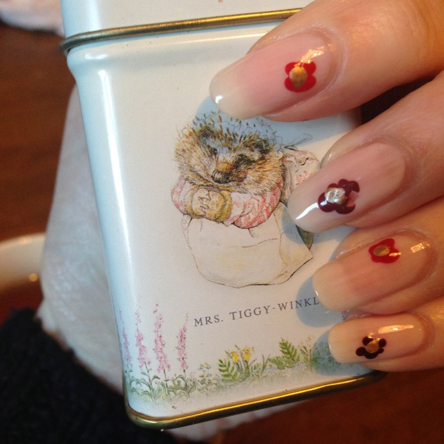 Check out my adorable Beatrix Potter tea.